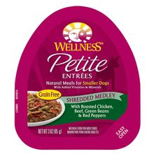 Wellness Petite Entrées Shredded Medley Wet Dog Food - Roasted Chicken, Beef, Green Beans & Peppers