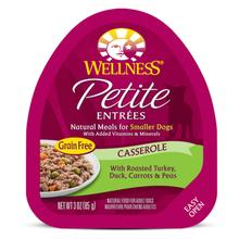 Wellness Petite Entrées Casserole Wet Dog Food - Roasted Turkey, Duck, Carrots & Peas