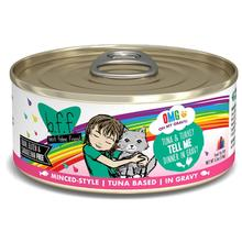 Weruva BFF OMG! Tell Me Wet Cat Food - Minced Style Tuna & Turkey Dinner in Gravy
