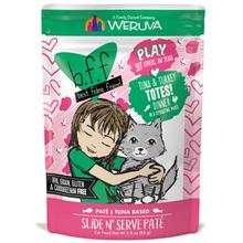 Weruva BFF Play Slide N' Serve Pate Cat Food Pouch - Tuna & Turkey Dinner Totes!