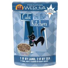 Weruva Cats in The Kitchen Cat Food Pouch - 1 Land, 2 Sea