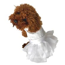White Wedding Fufu Tutu Dog Dress