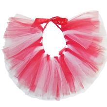 White/Red Tulle Dog Tutu by Pawpatu