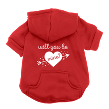 Will You Be Mine? Dog Hoodie - Red