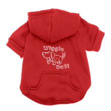 Wiggle Butt Dog Hoodie - Red