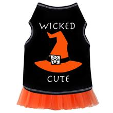 Wicked Cute Witch Hat Dog Dress - Black