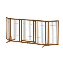 Wide Premium Plus Freestanding Dog Gate - Autumn Matte