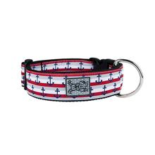 Nautical Wide Clip Adjustable Dog Collar By RC Pet