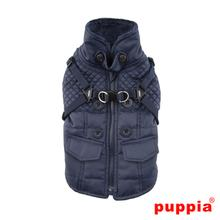 Wilkes Fleece Dog Vest by Puppia - Navy
