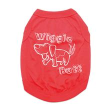 Wiggle Butt Dog Shirt - Red