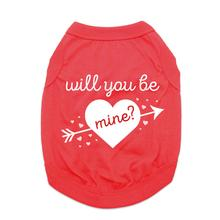 Will You Be Mine? Dog Shirt - Red
