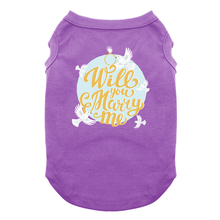 Will You Marry Me Dog Shirt - Purple