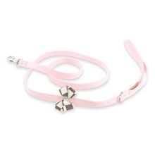 Windsor Check Nouveau Bow Dog Leash by Susan Lanci - Puppy Pink