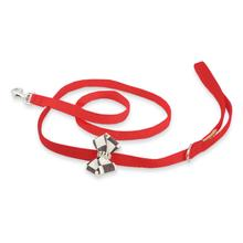 Windsor Check Nouveau Bow Dog Leash by Susan Lanci - Red