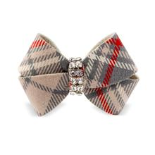 Scotty Nouveau Bow Dog Hair Bow by Susan Lanci - Doe Plaid