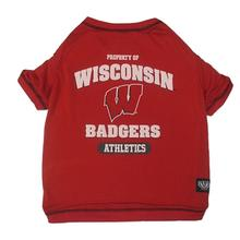 Wisconsin Badgers Athletics Dog T-Shirt