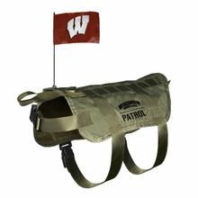 Wisconsin Badgers Tactical Vest Dog Harness