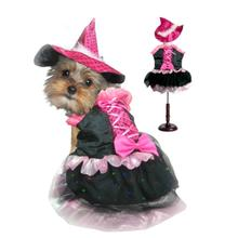 Witch Dog Halloween Costume - Pink Bow