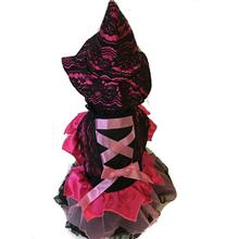 Witch Dog Halloween Costume - Pink Lace