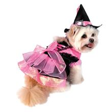 Witch Dog Halloween Costume - Shiny Pink