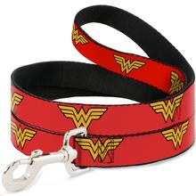 Wonder Woman Logo Dog Leash by Buckle-Down - Red