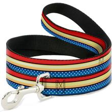 Wonder Woman Stars and Stripes Dog Leash by Buckle-Down