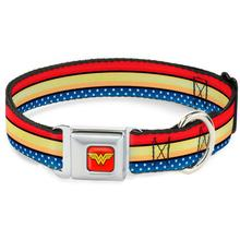 Wonder Woman Stars and Stripes Seatbelt Buckle Dog Collar by Buckle-Down