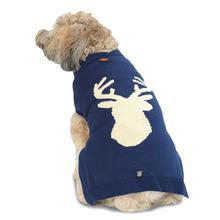Woody's Woodland Dog Sweater - Navy Elk