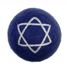 Wooly Wonkz Hanukkah Ball Dog Toy - Star of David