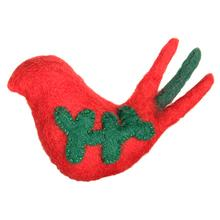 Wooly Wonks Holiday Cat Toy - Partridge Bird