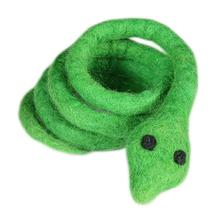 Wooly Wonkz Safari Cat Toy - Green Snake