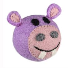 Wooly Wonks Safari Dog Toy - Hippo