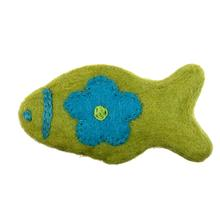 Wooly Wonks Woodland Cat Toy - Lime Fish