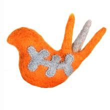 Wooly Wonkz Woodland Cat Toy - Orange Bird