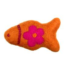 Wooly Wonkz Woodland Cat Toy - Orange Fish