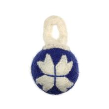Wooly Wonkz Holiday Ball Dog Toy - Ornament