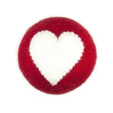 Wooly Wonkz Valentine Ball Dog Toy - Heart