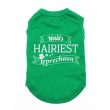 World's Hairiest Leprechaun Dog Shirt - Green