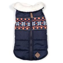 Worthy Dog Aspen Puffer Dog Jacket - Navy