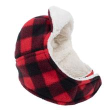 Worthy Dog Aviator Dog Hat - Red Buffalo Plaid