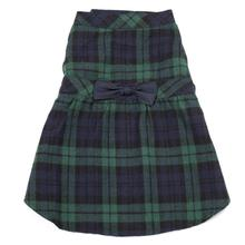 Worthy Dog Black Watch Plaid Flannel Dog Dress
