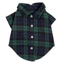 Worthy Dog Black Watch Plaid Flannel Dog Shirt