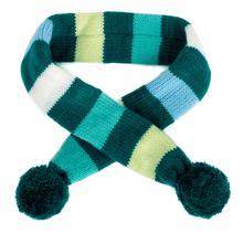 Worthy Dog Dapper Striped Dog Scarf - Teal