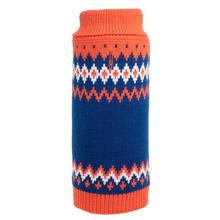 Worthy Dog Fairisle Dog Sweater - Orange