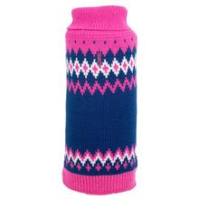 Worthy Dog Fairisle Dog Sweater - Pink