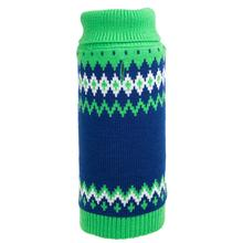 Worthy Dog Fairisle Dog Sweater - Green