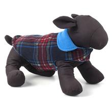 Worthy Dog Fargo Fleece Dog Jacket - Navy Plaid II