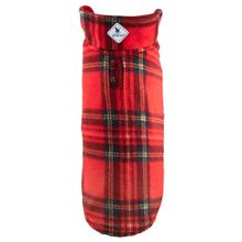 Worthy Dog Fargo Fleece Dog Jacket - Red Tartan / Red