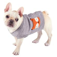 Worthy Dog Fox Dog Cardigan - Gray