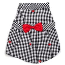 Worthy Dog Gingham Hearts Dog Dress